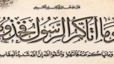 سنة الرسول وفق القرآن الكريم